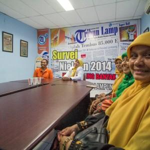 Kader kader Perempuan saat berkunjung ke salah satau Media yang ada di Lampung yaitu Tribun lampung.